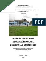 Plan de Trabajo de Educacion Para El Desarrollo Sostenible