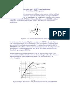 Depletion Mode MOSFET | Field Effect Transistor | Mosfet