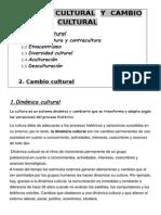 Dinamica Cultural y Cambio Cultural