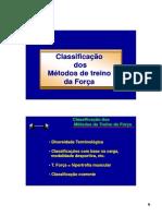 Classificação Dos Metodos de Treino de Força