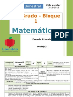 Plan 6to Grado - Bloque 1 Matemáticas (2015-2016)