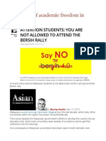 The Plight of Academic Freedom in Malaysia