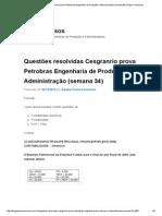 Questões Resolvidas Cesgranrio Prova Petrobras Engenharia de Produção e Administração (Semana 34) _ Passe Concursos