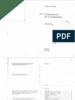 Giddens Consecuencias de La Modernidad PDF