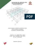 Analisis Sismico y Diseño de Un Portico Plano