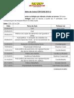 Calendário CEP 2015-2