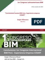 Conclusiones Evento BIM Lima Sergio Villanueva BIM Peru