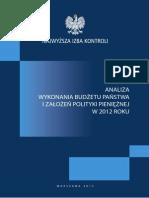 Analiza Budzetu 2012