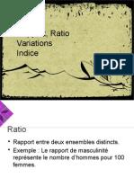 SLA Taux Ratio Variation Indice