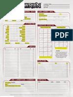 Editable PDF Sheet