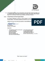 Trinity Parkway and Park Progress Report 091515