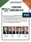 2015 Taxpayers League of Minnesota Scorecard