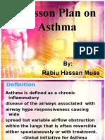 Asthma Lesson Plan
