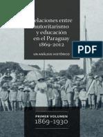Relaciones entre Autoritarismo y Educación en el Paraguay