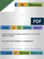 principles of menuing resources
