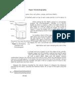Paper Chromatography Procedure, Data Sheet