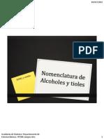 5 Nomenclatura Alcoholes y Tioles