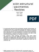 Evaluación Estructural de Pavimentos Flexibles