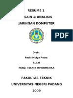 Desain & Analisis JarKom (Resume 1)