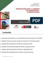 El Niño, transportes y telecomunicaciones en Perú