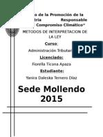 Monografia de Metodos de Interpretacion de La Ley