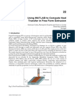 Matlab Heat Transfer Extrusion