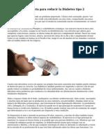 Elementos de la dieta para reducir la Diabetes tipo 2