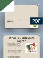 curriculum night- 2015