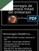 HEMORRAGIA 1RA MITAD EMBARAZO