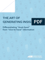 The Art of Generating Insight_Euromonitor_2012_Jan