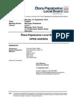 Otara-Papatoetoe Local Board Agenda - Sept 15