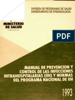 MANUAL DE PREVENCION CONTROL DE LAS INFECCIONES INTRAHOSPITALARIAS
