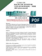 Curso de Formação de Auditor Interno Da Qualidade
