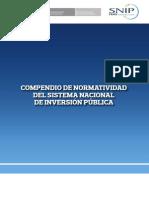 COMPENDIO NORMATIVAS DEL SNIP 2015