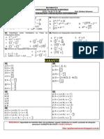 Lista 06 - Primeiros Anos - Equações e Inequações Exponenciais Com Gabarito