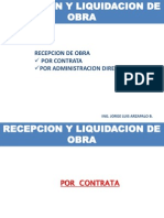 Recepcion y Liqui Obra Ing Jorge Arba