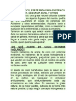 Aceite de Coco Alzhemer y Otros