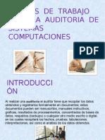 Exp. Papeles de Trabajo Para La Auditoria de Sistemas Computaciones