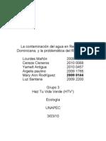 La Contaminación Del Agua en República Dominicana,