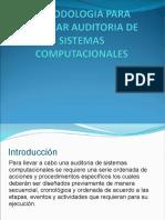 Metodologia Para Realizar Auditoria de Sistema