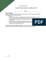 Jr. High Art Final Exam Document