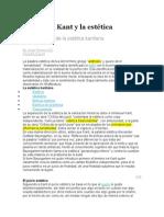 Inmanuel Kant y La Estética
