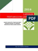 Laporan Pertanggung Jawaban Pengurus Rat 2013 Koperasi Pta Jakarta