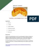 Tortilla de Papa y Chorizo