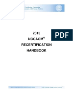 Recertification Handbook