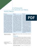 Microfacies de la Formación Lampazos en la sierra de Los Chinos, Sonora, México