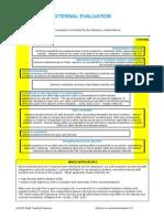 comparativa de evaluacion interna contra evaluacion externa