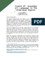 Harvard ASLIP Kusunda Paper 2006[1]