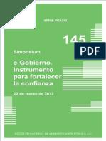 E-Gobierno. Instrumento Para Fortalecer La Confianza