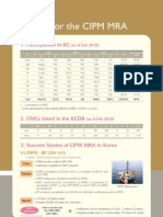 Activities for the CIPM MRA